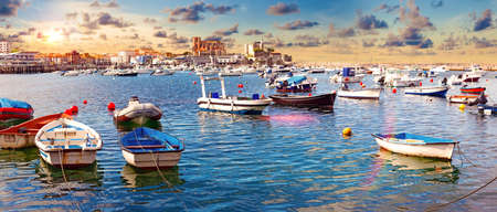 fishing village and Boat dock. Scenic seascape.tourism in Spain Stock Photo