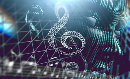 Dubstep and techno music abstract background