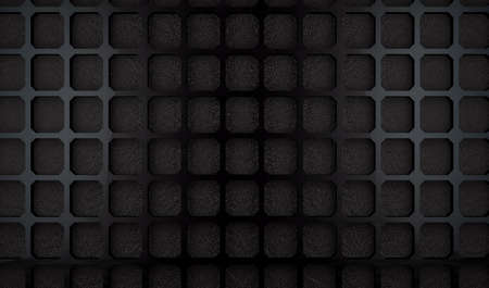Pattern and holes in modern material.Industrial and technology background Stock Photo