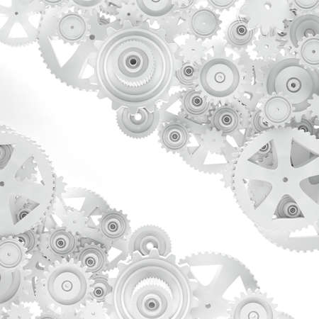 Industrial and mechanical background. Engine and technology concept.Gear cog background.3d illustration 写真素材