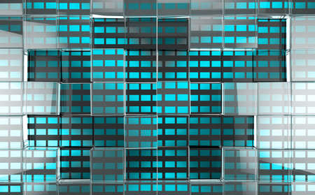 Abstract background of transparent and translucent cubes