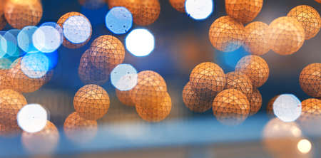 Abstract background with balls and geometric shapes