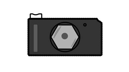 Illustration and symbol of professional photographic camera