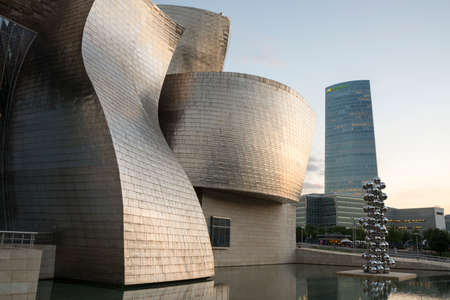 Guggenheim Museum of Bilbao (modern and contemporary art museum) designed by Frank O. Gehry