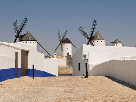 Windmills in Don Quixotes land (Campo de Criptana, La Mancha, Ciudad Real, Spain)