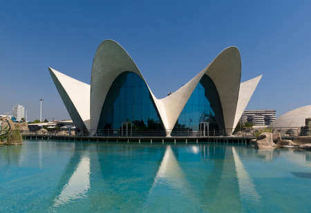 LOceanografic science museum and aquarium in Valencia Spain