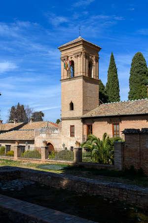 Convento de San Francisco (now a Parador Nacional) in La Alhambra, Granada, Andalusia, Spain