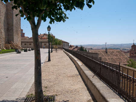 Avila walk area surrounding city wall Castilla y Leon