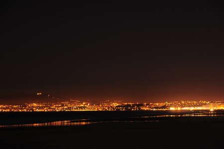 night city illumination Stock Photo