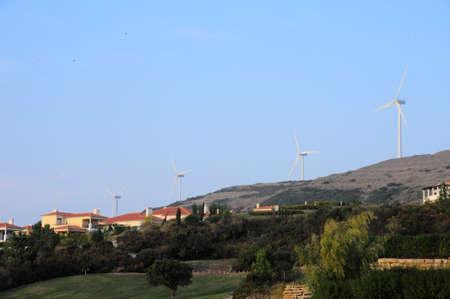 eólic energy city mountain Stock Photo - 15692039
