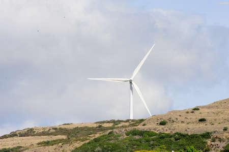 eólic energy turbines Stock Photo