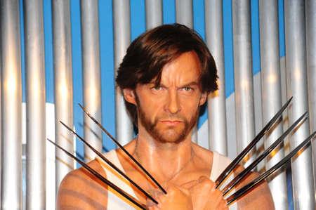 hugh: Wolverine - wax figure at Madame Tussauds in london