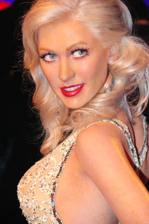 Christina Aguilera - wax figure at Madame Tussauds in london