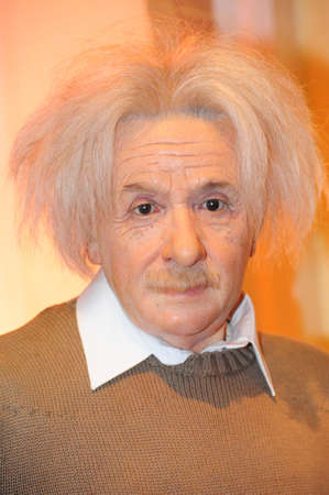 Albert Einstein - wax figure at Madame Tussauds in london