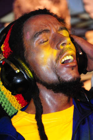 ano: bob  marley - wax figure at Madame Tussauds in london Editorial