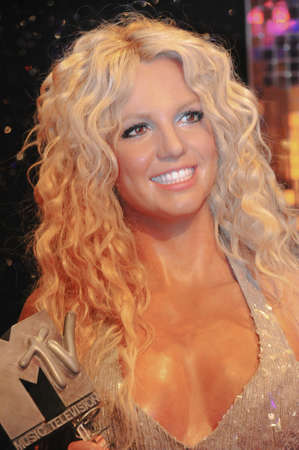 Britney Spears - wax figure at Madame Tussauds in london Stock Photo - 19443165