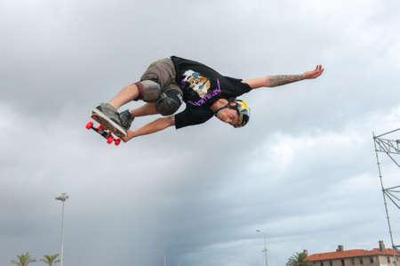 Elliot Sloan - flying - TONY HAWK AND FRIENDS SHOW 2014 - Cascais