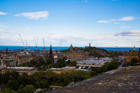 City of Edinburgh, the capital of Scotland, enchanted and inspiring city full of landmarks and landmarks Banco de Imagens