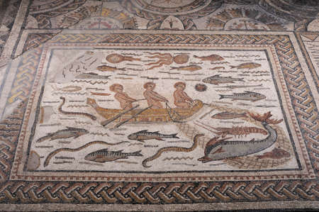 Roman Mosaic from the House of  Hyppolytus   in Alcal� de Henares . SPAIN