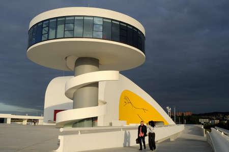 Niemeyer Center  in R�a of AVIL�S . Principado de Asturias . SPAIN