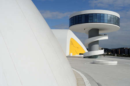 Niemeyer Center  in Ria of AVILES . Principado de Asturias . SPAIN  Editorial