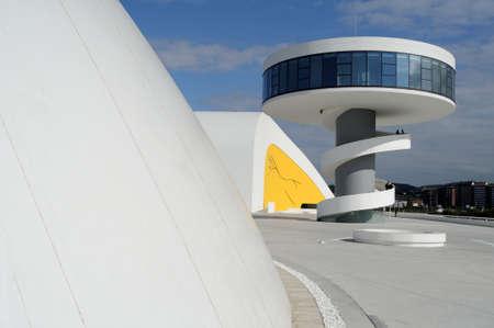 oscar niemeyer:  Niemeyer Center  in Ria of AVILES . Principado de Asturias . SPAIN  Editorial