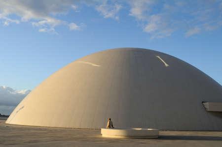 oscar niemeyer:  Dome   Niemeyer Center  in R�a of AVIL�S . Principado de Asturias . SPAIN
