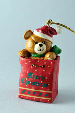 Bear  .Ornament  of  Christmas tree. photo