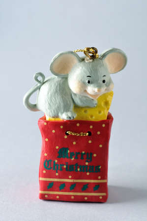 Mouse .Ornament  of  Christmas tree. photo
