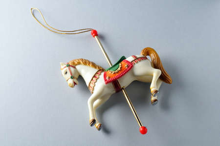 Carousel Horse.Ornament  of  Christmas tree. photo