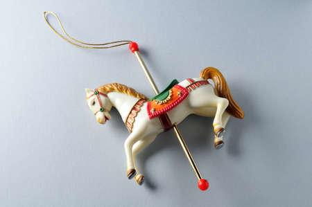 carrousel: Carousel Horse.Ornament  of  Christmas tree.