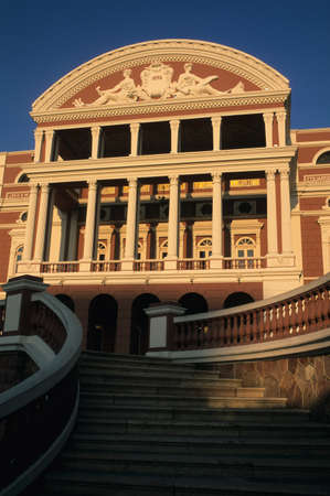 Amazons theater front with its staircase. MANAUS .BRAZIL