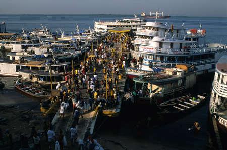 View of the port of Manaus. (Amazonas) BRAZIL