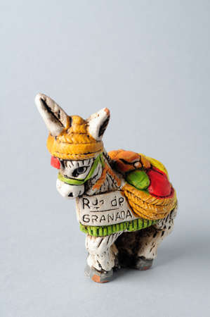 Donkey .Figure of ceramic from Spain. Stock Photo