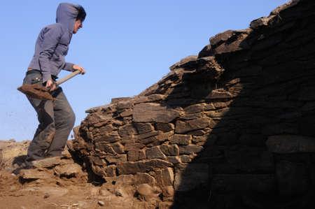 blanco: SPAIN.Asturias. Council of  El Franco. CABO BLANCO ; Archaeological excavation
