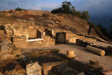 Roman Domus (  1 st CE ) Archaeological site Chao Samartin Asturias SPAIN Stock Photo - 11784934