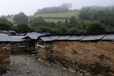 castro: View Castro archaeological site  Chao Samartin  GRANDAS DE SALIME  Asturias SPAIN Editorial