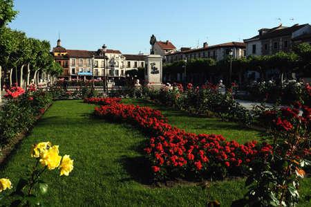 Plaza Cervantes in ALCALA DE HENARES . Community of Madrid .SPAIN