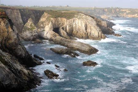 capes: View  CAPE BLANCO  ( Cantabrian sea ) Asturias. Council of  El Franco. SPAIN Stock Photo