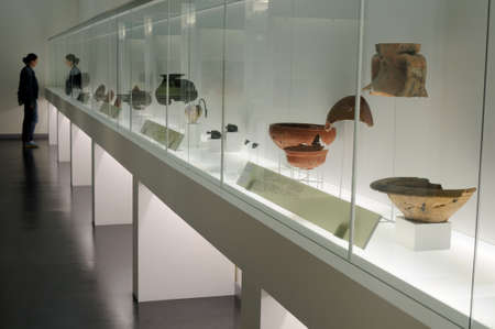 chao: Ceramic  showcase  Terra  Sigillata  Archaeological Museum   Chao Samartin  Asturias SPAIN Editorial