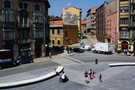 aviles: Plaza de Espa�a in AVILES . Principado de Asturias . SPAIN