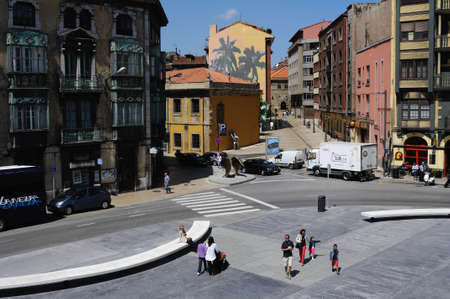 aviles: Plaza de España in AVILES . Principado de Asturias . SPAIN Editorial