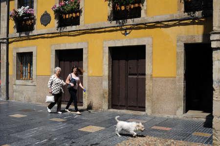 aviles: Galiana street in AVILES . Principado de Asturias . SPAIN