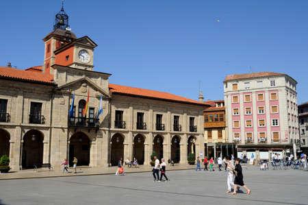 aviles: City council house in AVILES . Principado de Asturias . SPAIN Editorial