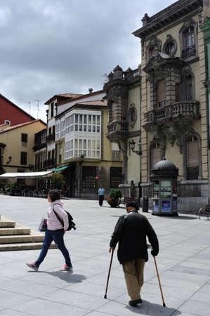 aviles: San Francisco street in AVILES . Principado de Asturias . SPAIN