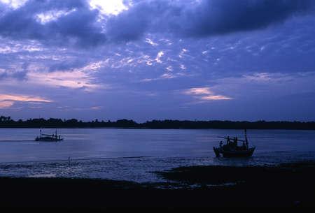 Amazon river in the evening in Soure.MARAJO ISLAND (Amazon). BRAZIL Stock Photo