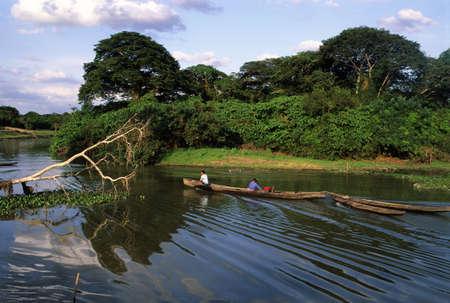 Camutins river canoes. Camutins MARAJO ISLAND (Amazon). BRAZIL