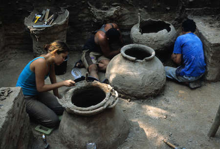 trabajo: BRAZIL (Amazonas). State Par�. Maraj� Island - archaeological campaigns. MARAJOARA CULTURE  (5 th - 14 TH century ).Funerary urns.