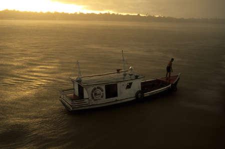 BRAZIL (Amazonas). State of Par�. Maraj� Island ; Storm in the Amazon River.