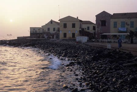 Gor�e view at dusk  GOREE ISLAND Dakar Region. SENEGAL. Stock Photo - 11868413